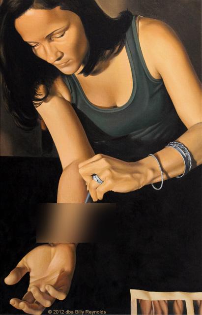 """Kristina Quinones"", 28"" x 18"", Oil on Linen, ©2011."