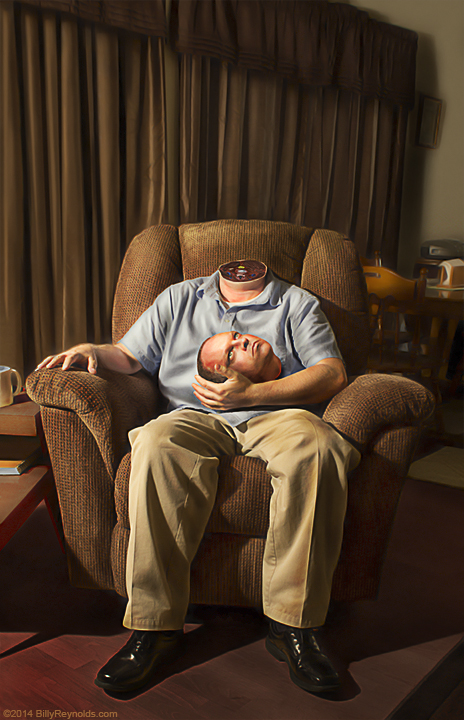"""Quiet Evening Relaxing After Work"", Digital Image. ©2014."